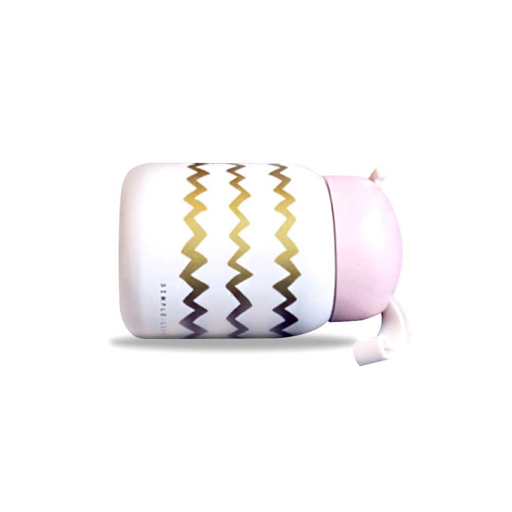 Pink Stainless Steel Portable Compact Mini Cup 1pc - multicolor D