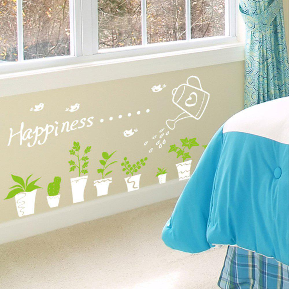 Creative Decoration Cartoon 3D Flower Pot Wall Sticker все цены