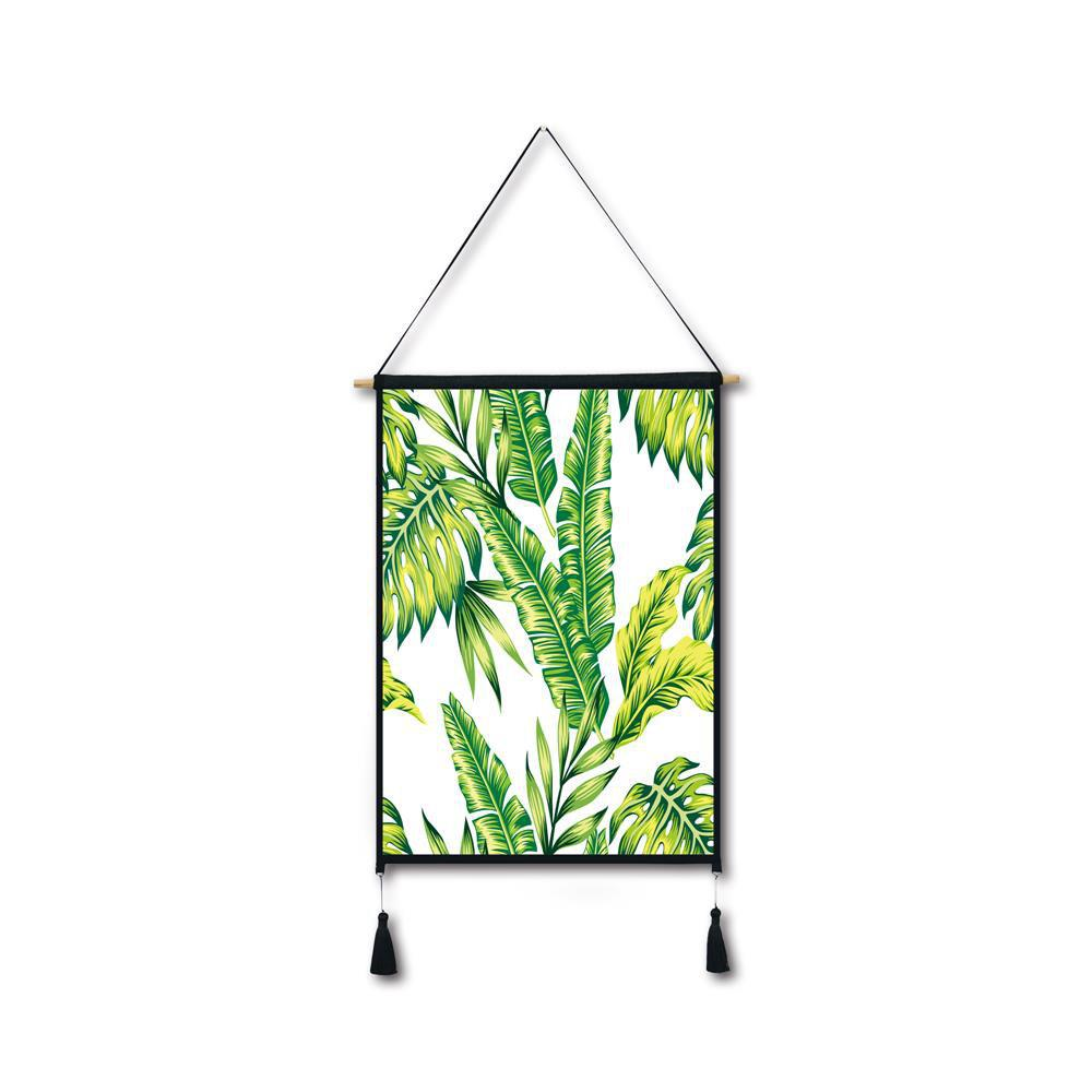 Banana Palm Leaves Tassel Hanging Painting Wall Decor Print yellow banana leaf tassel hanging painting wall decor print