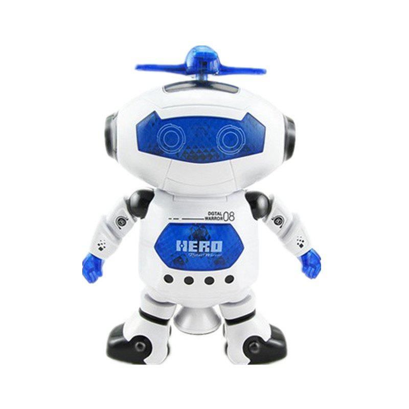 Space Dancing Electric Robot 360-degree Rotating Light Music Infrared Toy plastic electric dancing butterfly around flower cat toy