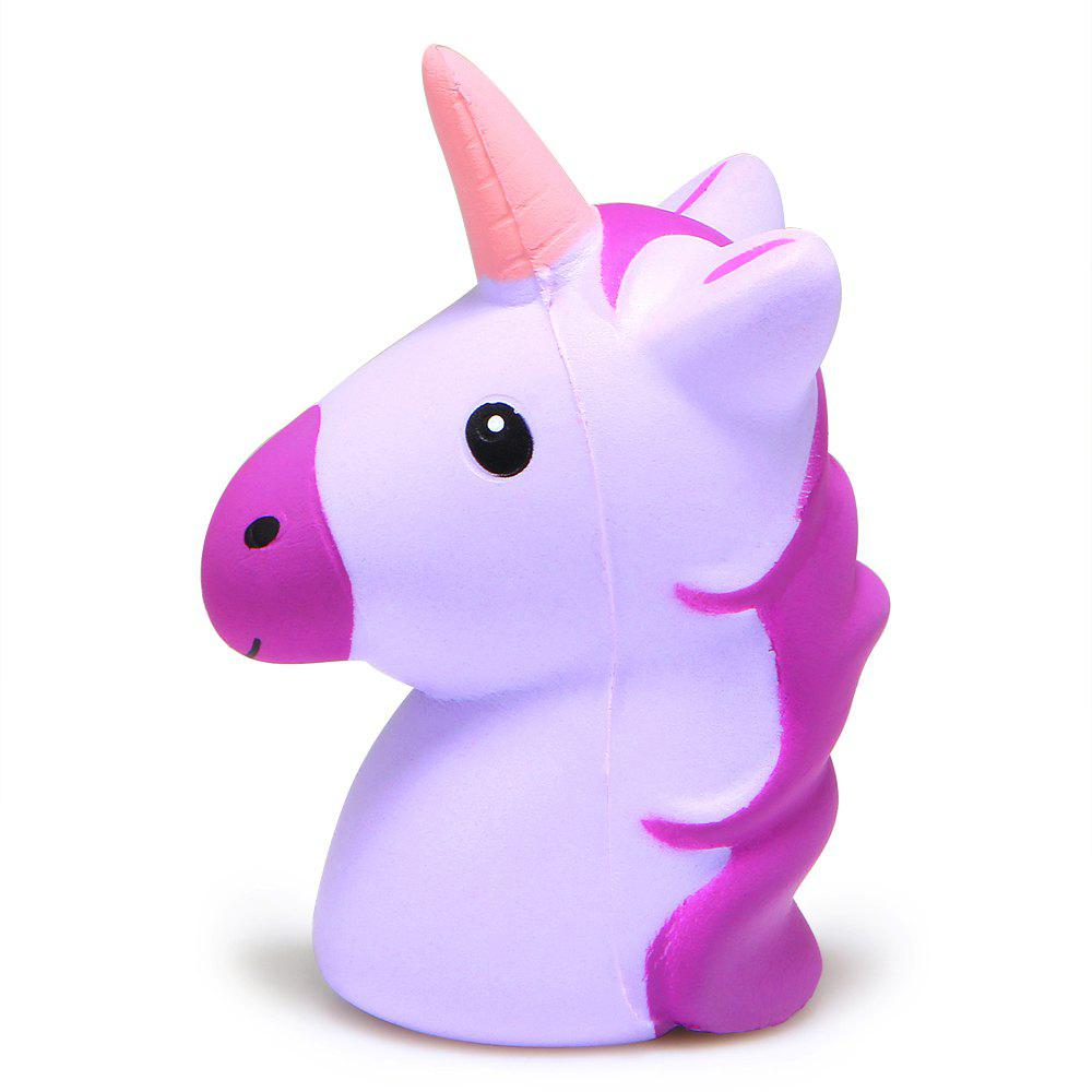 Jumbo Squishy Simulation of Unicorn Horse Head Slow Rebound Stress Release Toy big simulation black horse toy polyethylene