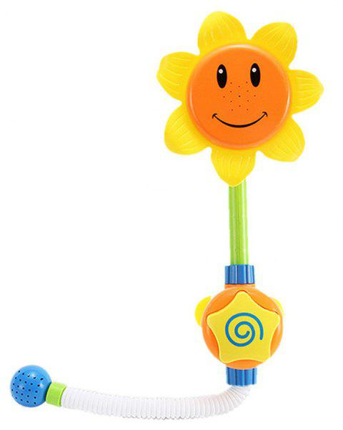 Baby Funny Water Game Bath Toy Sunflower Shower Faucet - multicolor