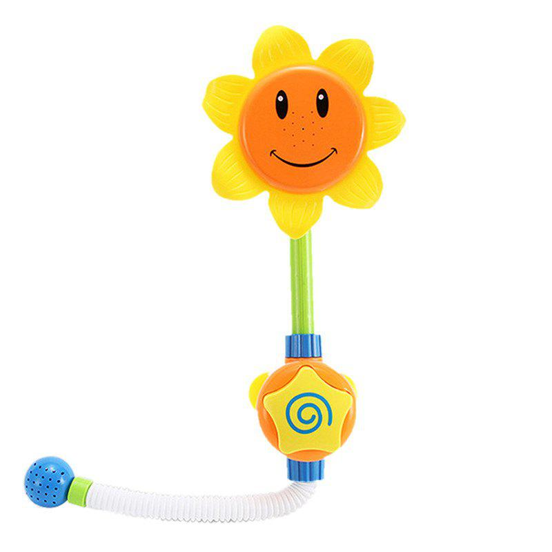 Baby Funny Water Game Bath Toy Sunflower Shower Faucet baby cartoon sunflower flower aspersed bathroom water bath toy