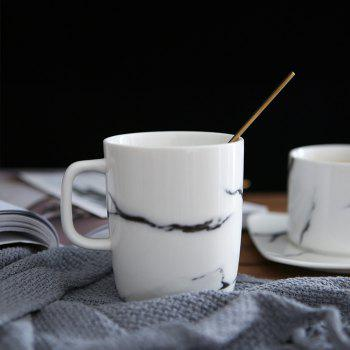 1 Piece Marbling Ceramic Simple Coffee Cup Drinkware - WHITE 10.5*10*7.5