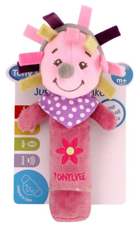 Baby  Rattle Toy  Cute Cartoon Animal Pattern Soft Educational Comforting Toy - VIOLET RED 20CM / 7.9 INCH