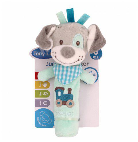 Baby  Rattle Toy  Cute Cartoon Animal Pattern Soft Educational Comforting Toy - LIGHT BLUE 20CM / 7.9 INCH