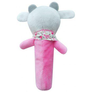 Baby  Rattle Toy  Cute Cartoon Animal Pattern Soft Educational Comforting Toy - BLUSH RED 20CM / 7.9 INCH