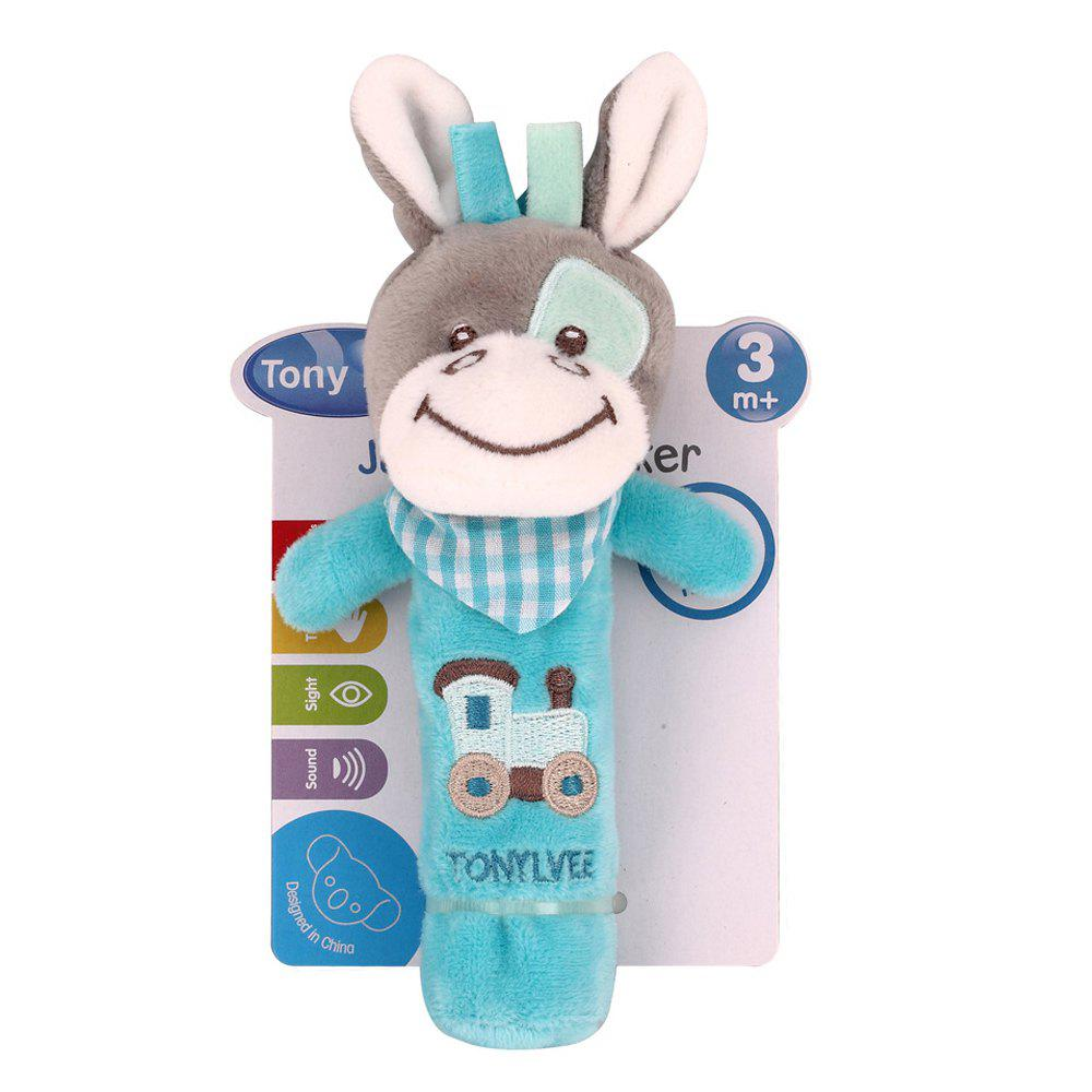 Baby Rattle Toy Cute Cartoon Animal Pattern Soft Educational Comforting Toy surwish cartoon animal stacking wooden counting stacker baby kids children educational toy