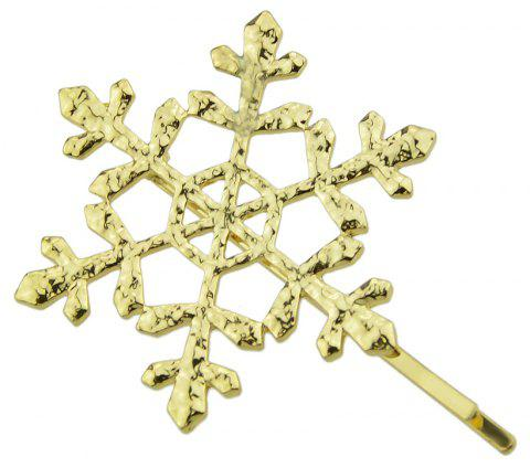 Gold-color Hollow Snowflake Hairpin - GOLD