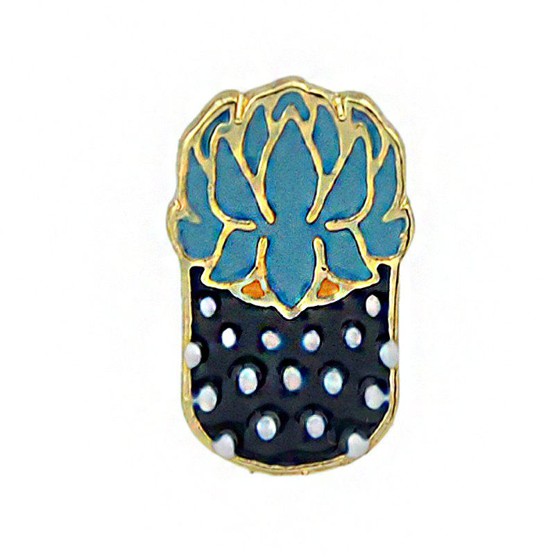 Gold-color Colorful Enamel Potted Plants Brooch женские часы diesel dz5546