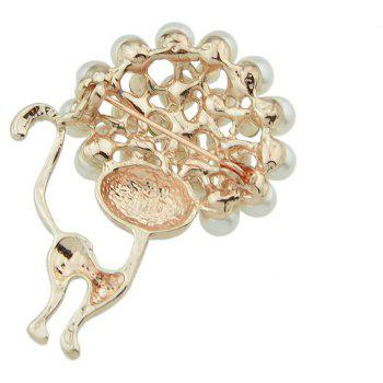 Fashion Cute Cat Luxury Brooch - ANTIQUE WHITE