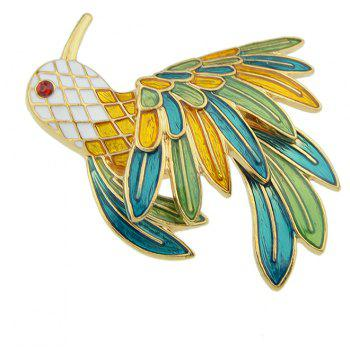 Colorful Enamel Bird Brooches for Women - multicolor