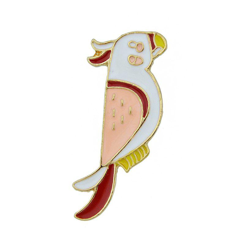 Colorful Enamel Bird with Gold-color Metal Cute Brooches - multicolor