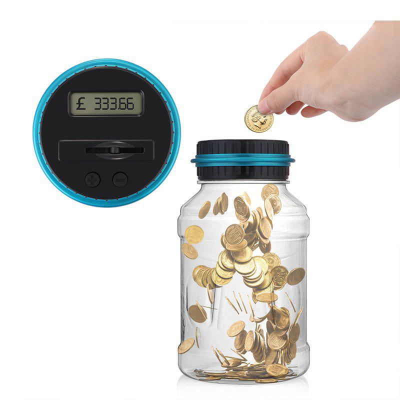 Electronic Digital Counting Coin Money Saving Box LCD Display Piggy Bank GBP pressure switch dro dpa01m p electronic digital display