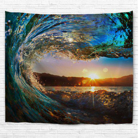 Big Wave 3D Printing Home Wall Hanging Tapestry for Decoration - multicolor A W153CMXL102CM