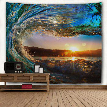 Big Wave 3D Printing Home Wall Hanging Tapestry for Decoration - multicolor A W230CMXL180CM