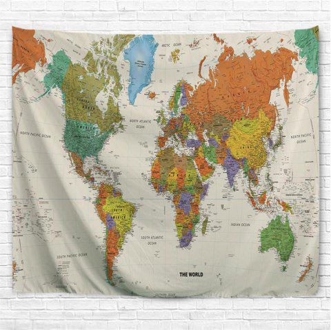 Colorful World Map 3D Printing Home Wall Hanging Tapestry for Decoration - multicolor A W153CMXL102CM