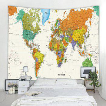 Colorful World Map 3D Printing Home Wall Hanging Tapestry for Decoration - multicolor A W230CMXL180CM