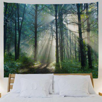 Dense Forest 3D Printing Home Wall Hanging Tapestry for Decoration - multicolor A W230CMXL180CM