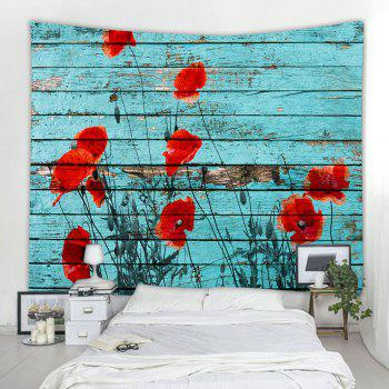 Wooden Board Poppy 3D Printing Home Wall Hanging Tapestry for Decoration - multicolor A W230CMXL180CM