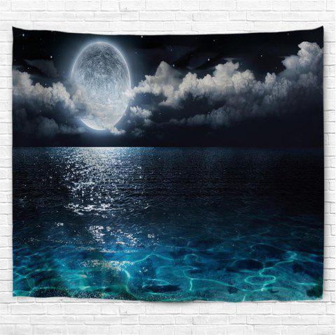 Full Moon Night 3D Printing Home Wall Hanging Tapestry for Decoration - multicolor A W230CMXL180CM