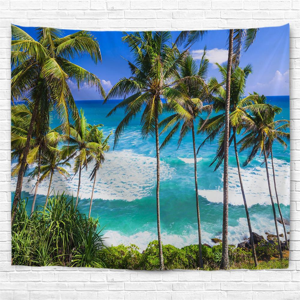 Sri Lanka Beach 3D Printing Home Wall Hanging Tapestry for Decoration - multicolor A W153CMXL102CM