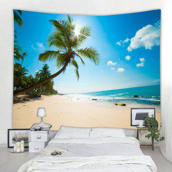 Tropical Beach 3D Printing Home Wall Hanging Tapestry for Decoration - multicolor A W153CMXL130CM