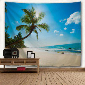 Tropical Beach 3D Printing Home Wall Hanging Tapestry for Decoration - multicolor A W230CMXL180CM