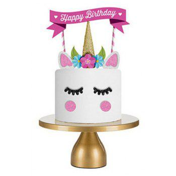Unicorn Cake Decorated with Flags - PINK CUPCAKE