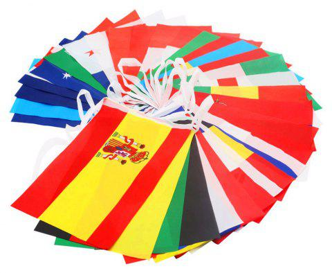 Flags Set of 32 Country Banner Decorations - multicolor C