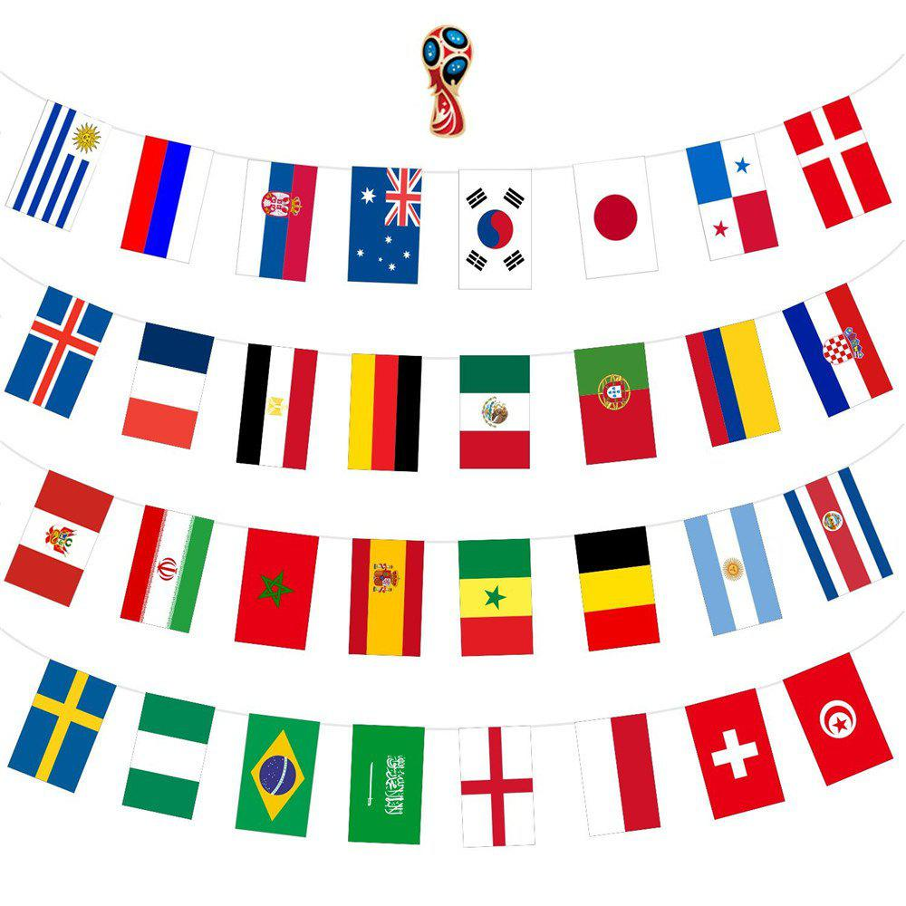 Flags Set of 32 Country Banner Decorations waugh e put out more flags