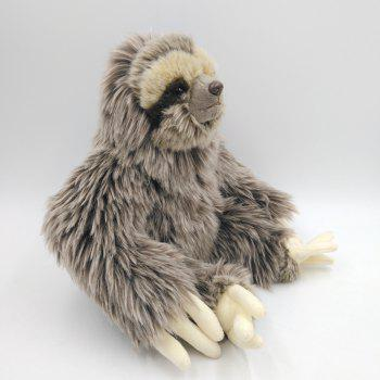Simulation Tropical Forest Animal Sloth Stuffed Plush Toys - GRAY 8 INCH