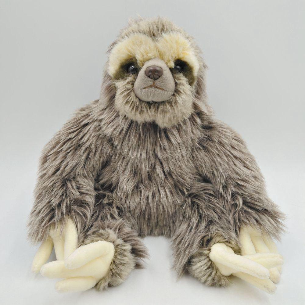 Simulation Tropical Forest Animal Sloth Stuffed Plush Toys stuffed wild doll toys african wolf spotted hyenas simulation animals plush toy children dolls rare