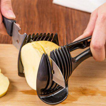 Round Fruit Slicer Fixture - BLACK