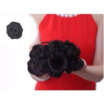 TODO 12cm Flowers Bud Insert Comb Clip In Bun Updo Cover Hair Extensions - DEEP BROWN