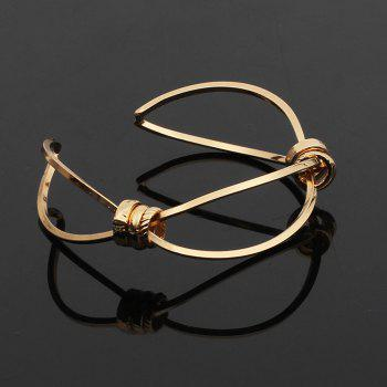 Open Copper Lady's Personality Bangle - GOLD 1PC
