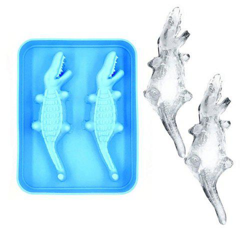 Crocodile Shape 3D Ice Cube Maker Bar Party Silicone Tray Jelly Mold - CELESTE