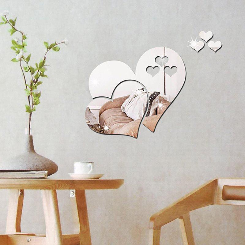 Three-dimensional Stereoscopic Heart-Shaped Wall Decal Sticker pastel heart wall decal