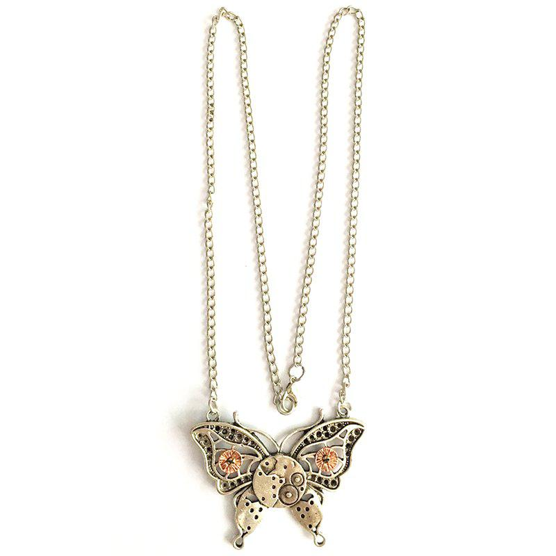 European and American Popular Steampunk Gear Butterfly Necklace european popular bar chairs north american fashion club stool retail and wholesale free shipping green purple black
