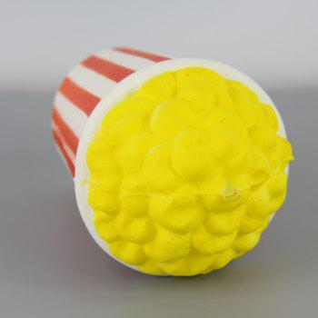 Jumbo Squishy Yellow Popcorn Relieve Stress Toys - multicolor A