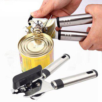 Stainless Steel Can Openers High Quality Bottle Opener with Handle - SILVER