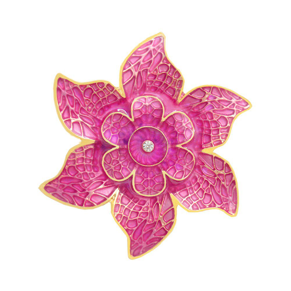 Flower Brooch Korean Style Bauhinia Corsage Enamel Pins for Women Gift 2016 trendy fabric blooming peony flower corsage brooch woman hair decorations