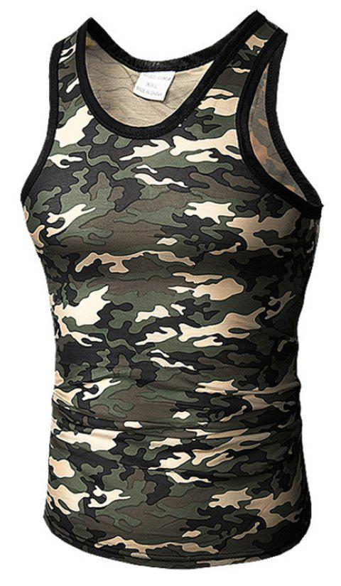 Men's Self-Cultivation Chicken Camouflage Vest - GRAY 2XL