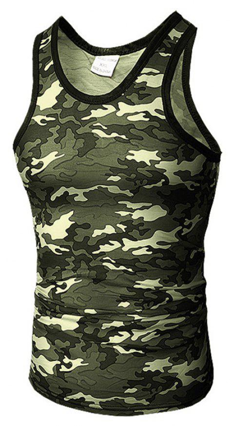 Men's Self-Cultivation Chicken Camouflage Vest - CAMOUFLAGE GREEN 2XL