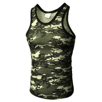 Men's Self-Cultivation Chicken Camouflage Vest - CAMOUFLAGE GREEN M