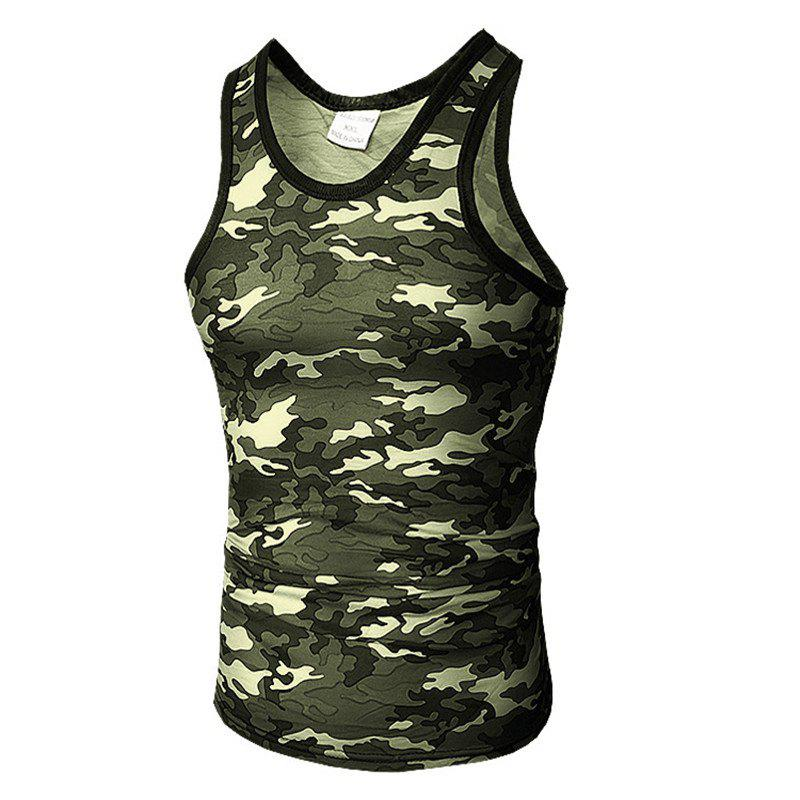 Men's Self-Cultivation Chicken Camouflage Vest - CAMOUFLAGE GREEN 3XL