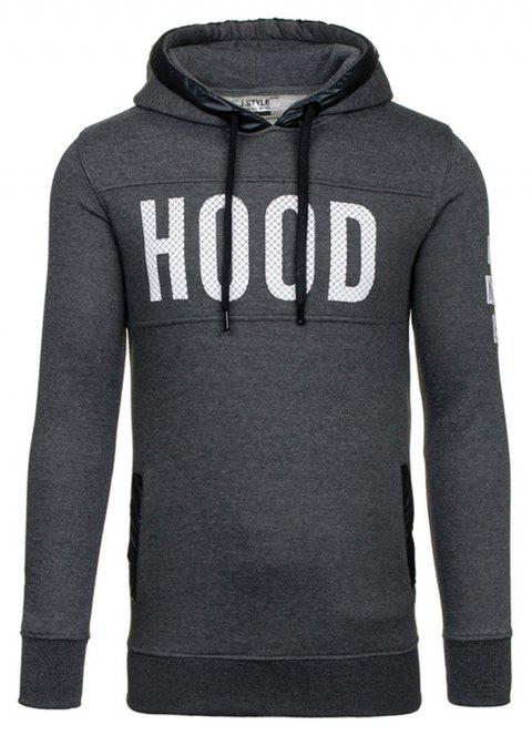 Men's New Fashion Slim Hoodie - DARK GRAY L