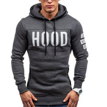 Men's New Fashion Slim Hoodie - DARK GRAY XL