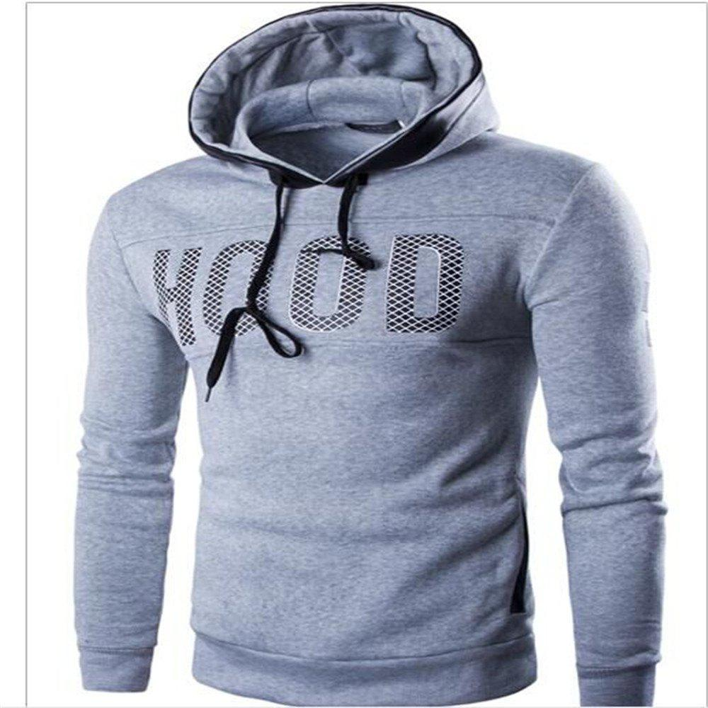 Men's New Fashion Slim Hoodie - LIGHT GRAY 3XL