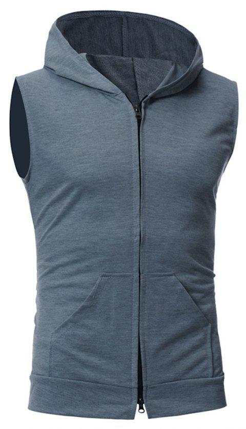 Men's Fashion Simple Sports Vest - DARK GRAY XL